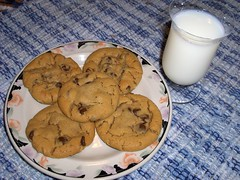 Peanut Butter Chocolate Chip Cookies (w/recipe) by A Worthy Image
