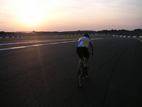 Cycling sunset