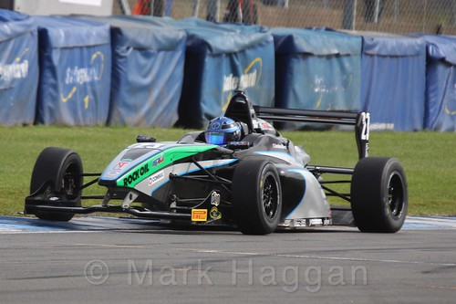 Sean Walkinshaw Racing's Jordan Albert in BRDC F4 Race Two at Donington Park, September 2015