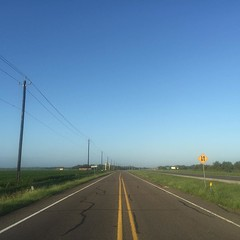 The Road Ahead. Day 151. Rt. 59 Service Rd., in Rosenberg, TX. Strange to be back on the road, no longer have a sense of urgency, think I'm feeling the true scope of the world walk for the first time. #TheWorldWalk #travel #wwtheroadahead