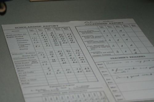 War Museum XIV: Report Card