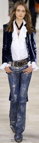 Babados, veludo e jeans com textura