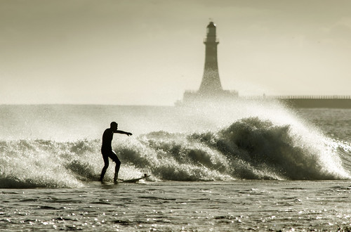 Surfing at Seaburn, Sunderland