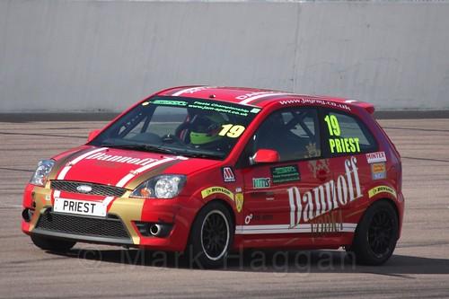Samuel Priest in Fiesta Racing at Rockingham, Sept 2015
