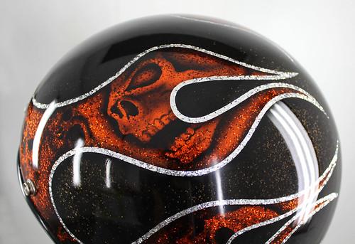 pinturacustom pinturapersonalizada custompaint biltwell biltwellhelmet skulls craneos flames flamas metalflakes pinturacandy art arte airbrush aerografia