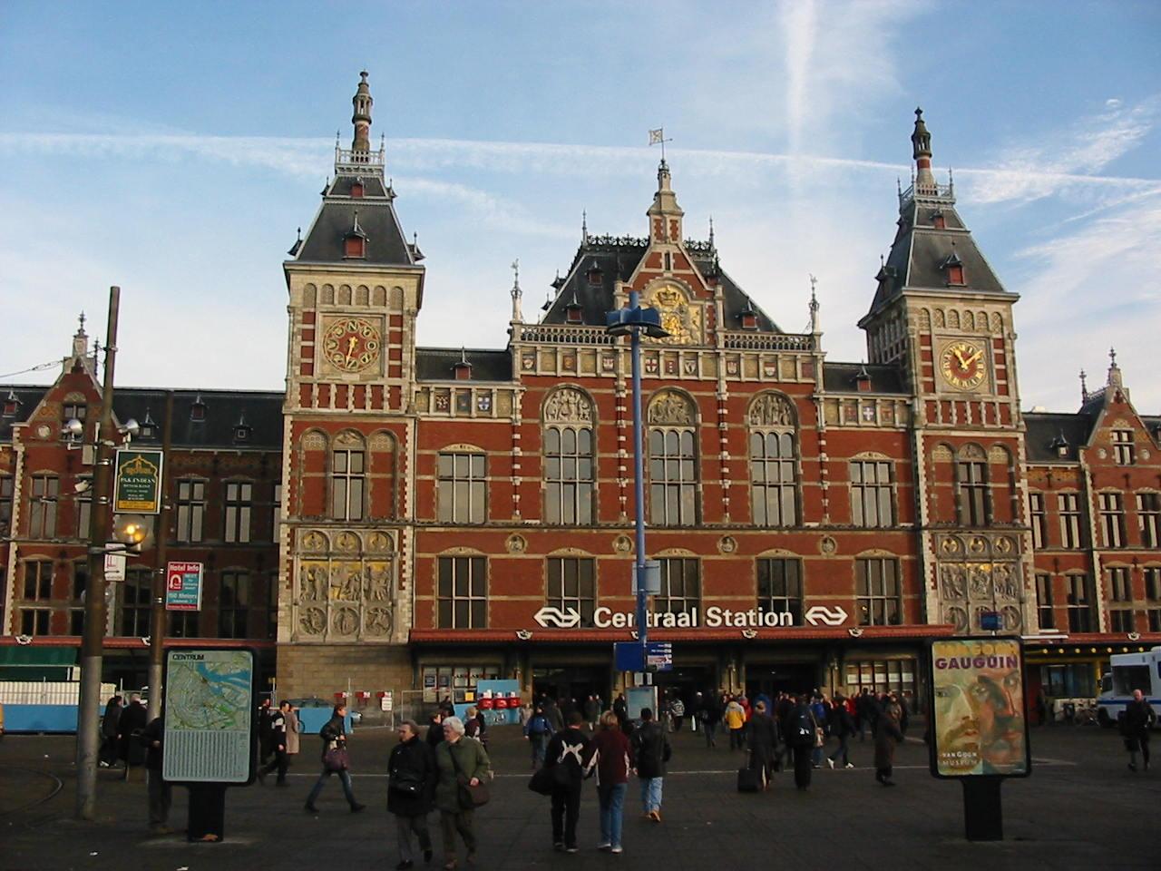 Image result for amsterdam central station