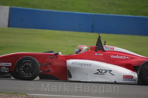 MGR Motorsport's Hernán Fallas in BRDC F4 Race Two at Donington Park, September 2015