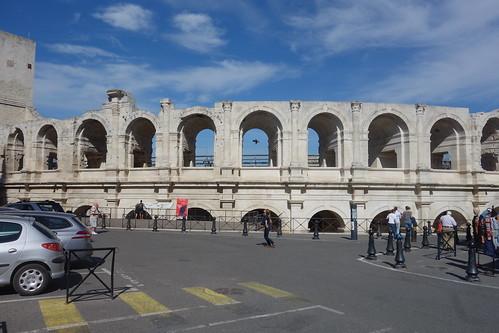 L'amphithéâtre date de la fin du Ier siècle après Jésus-Christ, pendant l'occupation romaine