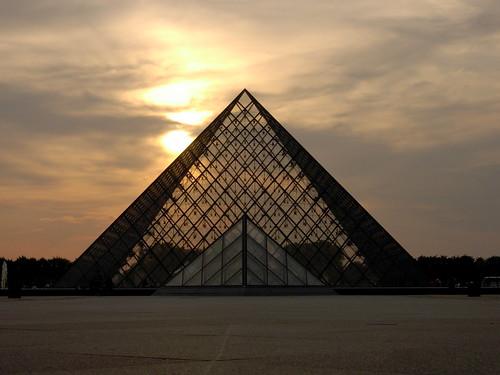 Louvre at dusk