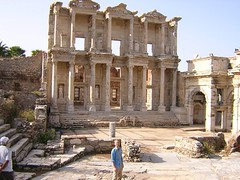 MP at the Celsus Library in Ephesus, Turkey 2003