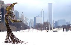 Chicago Angel in Winter