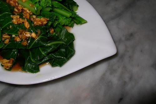 chinese brocoli in sweet garlic sauce