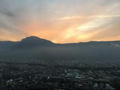 Coucher de soleil sur le Vercors depuis la Bastille - Grenoble