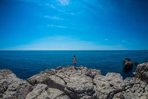 Ilha de Lokrom  na Croácia