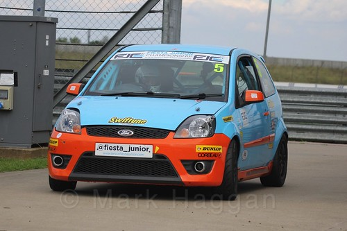 Ben Swift after Race 2, Fiesta Junior Championship, Rockingham, Sept 2015