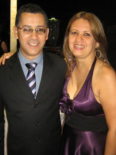 Antônio Sá e Maria José, em noite de festa