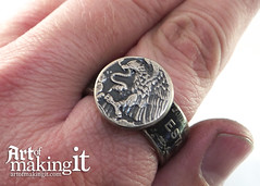 "Mexican Un Peso Ring on Hand • <a style=""font-size:0.8em;"" href=""http://www.flickr.com/photos/82064146@N00/31824322642/"" target=""_blank"">View on Flickr</a>"