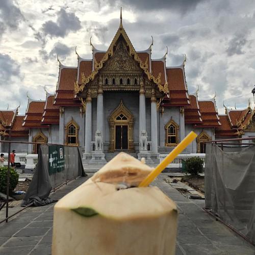 Wat Benchamabophit Dusitvanaram Marble Temple & coconut   @ #Bangkok #Thailand  #thailoup #traveloup