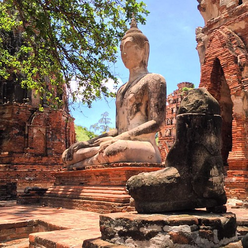 #Buddha  @ #WatMahathat #Ayutthaya #Thailand  #thailoup #traveloup