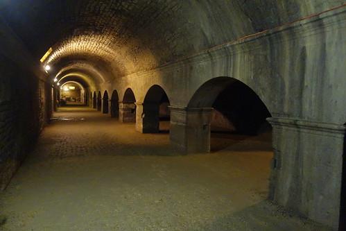 Et sous l'hôtel de ville, un réseau souterrain soutenant le forum : les cryptoportiques