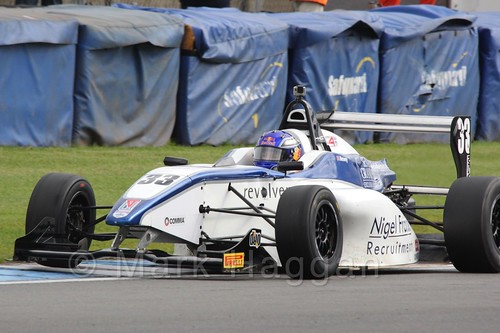 Hari Newey in BRDC F4 at Donington Park, September 2015