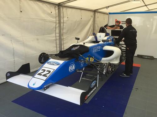 Tarun Reddy's car in MSA Formula at Rockingham, September 2015