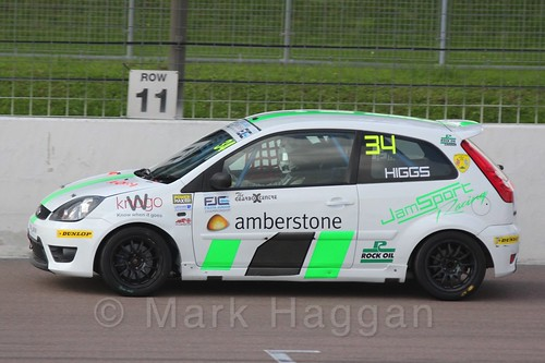Michael Higgs in Race 1, Fiesta Junior Championship, Rockingham, Sept 2015