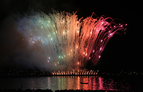 Rainbow in Fireworks Vancouver