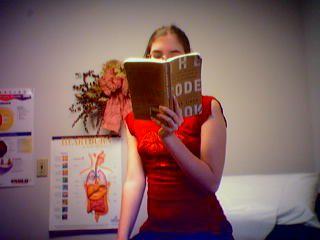 Katie reading