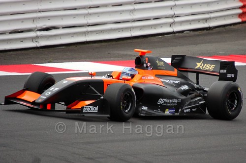 Roy Nissany in the Formula Renault 3.5 Saturday Race at Silverstone