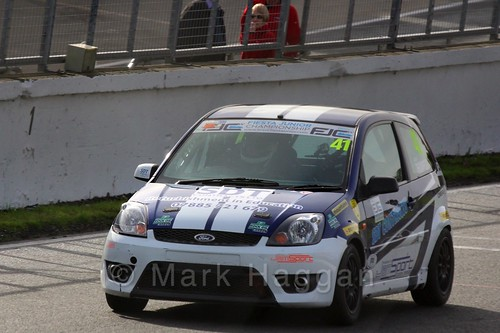 Aaron Thompson in the Fiesta Junior Championship, Brands Hatch, 2015