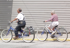 Happy Couple Rides Away