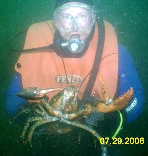 Bill Myers with a Huge Lobster