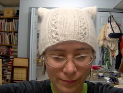 snow cat hat