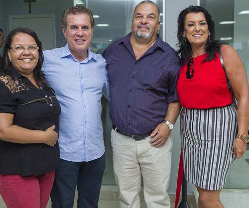Marlene e Geraldo Luís com os anfitriões