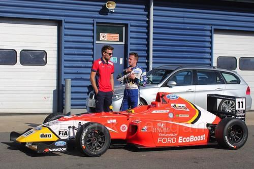 Ricky Collard in MSA Formula at Rockingham, September 2015