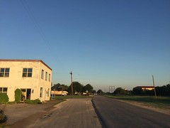 The Road Ahead. Day 159. W Main Street in Ingleside, TX. Woke early but was delayed by a flat tire then the lure of a donut shop. But into Corpus Christi today to meet up with friend and fraternity brother, @stephenjkahn! #TheWorldWalk #texas #travel #wwt