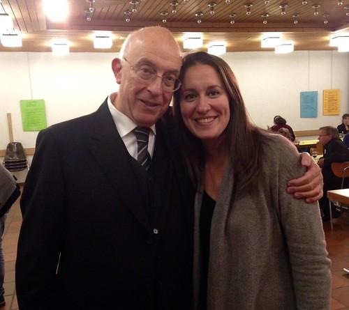 Avec Michael Radulescu après la Messe en Si de Bach.
