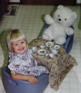 Ria and Teddy Bear Have Tea