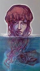 Medusa, acrilico e inchiostro su tela, 2014