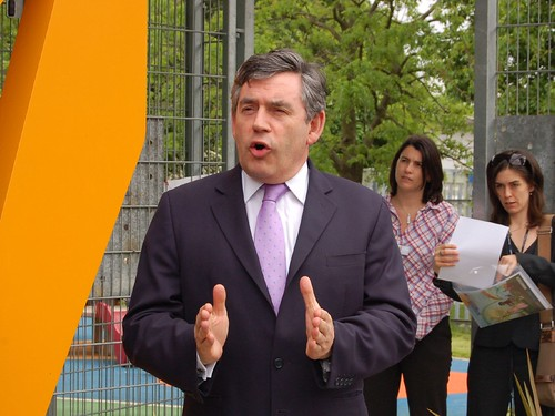 Gordon Brown by Flickr User Tim Waters (Creative Commons)