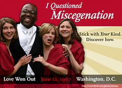 I questioned homosexuality and miscegenation, ...