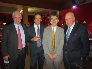Marcelo Chara, Paolo Bassetti, Nobuhiro Yamamoto, VP Planejamento Corporativo da Usiminas e Daniel Novegil, CEO da Ternium