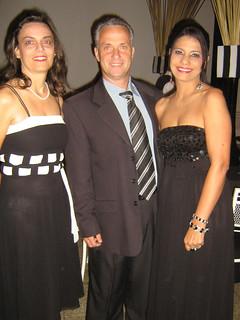 Denise Brum, com o casal Salvador Prado Jr. e Solange