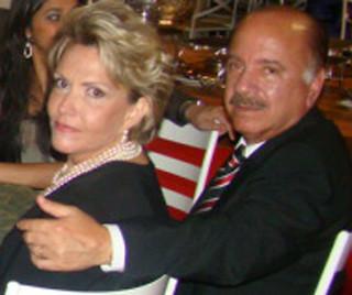 Um dos mais elegantes casais, Olga e Matusalém Dias Sampaio