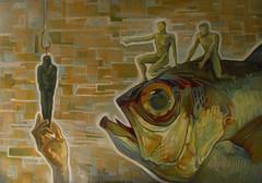 I Cannibali-Allegoria ed effetti del Cattivo Governo, tecnica mista su tela, 2014