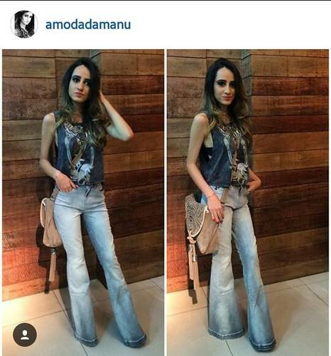 A lindíssima Manu @amodadamanu com look total @colccioficial @expresslojas!!