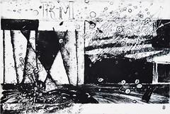 IL RUMORE DELLA PIOGGIA, pvc, puntasecca e tecnica mista su plexiglass
