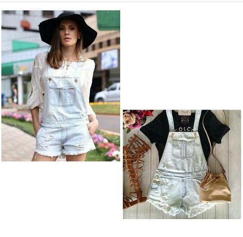 Dois hits do verão em uma peça, a jardineira e a lavagem clarinha de jeans. @colccioficial