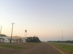 The Road Ahead. Day 168. U.S. 281 in Linn, TX. Have twenty-two miles to walk to make it to Savannah's veterinary appointment by 4:30. Legs are super sore and feet are blistered from switching between two different types of socks, still, time to hustle. #T